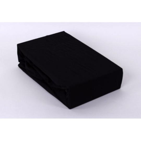 Jersey prostěradlo Exclusive - černá 160x200 cm varianta černá