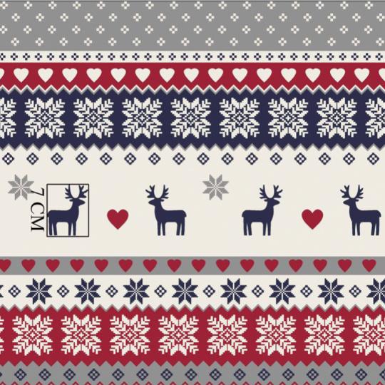 Vánoční vzory bavlněné látky, metráž 013