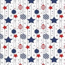Vánoční dekorační bavlněné látky vzor VÁNOCE 31  barva modrá