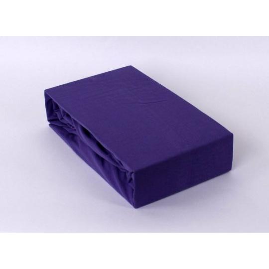 Jersey prostěradlo dvoulůžko Exclusive - fialová 180x200 cm varianta fialová