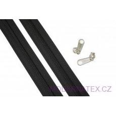 Zip spirálový černý 5 mm metráž