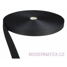 Polypropylénový popruh 20mm černý (balení 50 m)