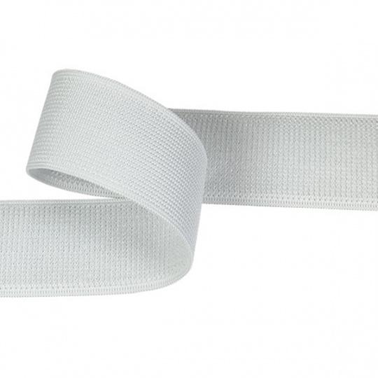 Zip elastický 30 mm barva bílá  balení 25 m