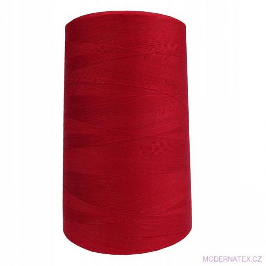 Nitě VIGA 120 do overloků 5000m barva červená 216