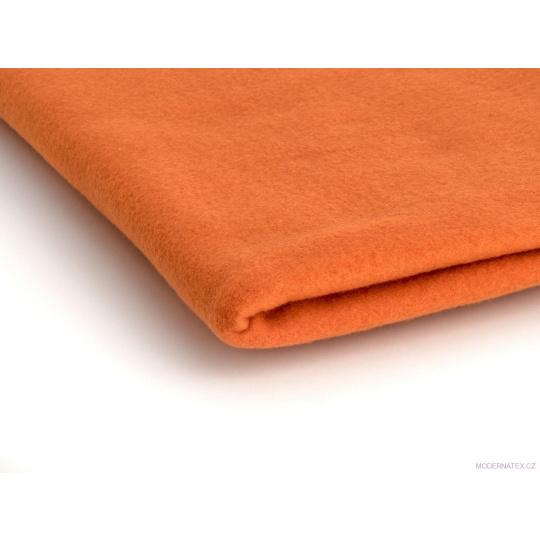 Látka Micro fleece barva pomeránčová 26