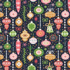 Vánoční dekorační bavlněné látky vzor VÁNOCE 22 barva granátová