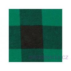 Flanelová látka černé-zelená 4x4 cm  631  šíře 160 cm