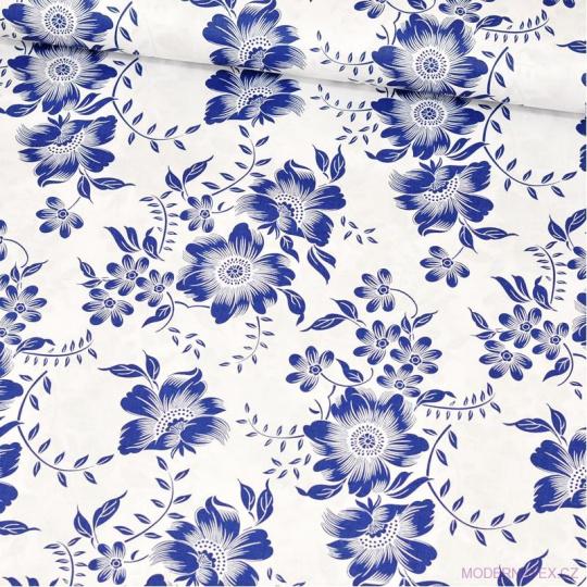 Bavlněné látky Kytičky  RIKARDO na bílém vzor 1442