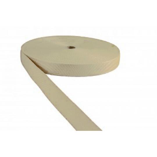 Polypropylénový popruh 25  mm ecru (balení 50m)