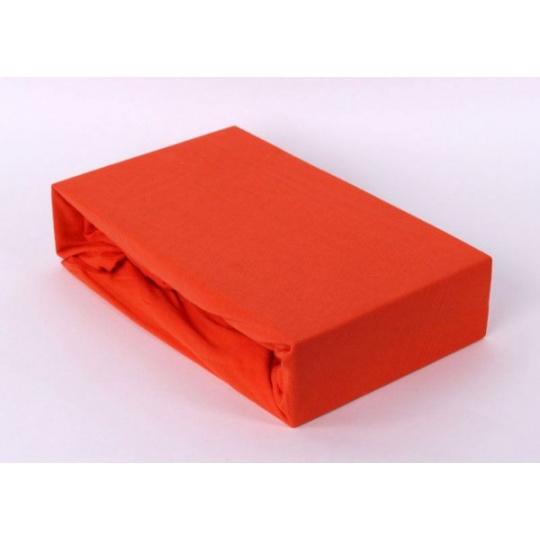 Jersey prostěradlo dvoulůžko Exclusive - oranžová 200x220 cm  varianta oranžová