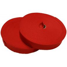 Lemovací proužek  PES 30 mm  barva červená