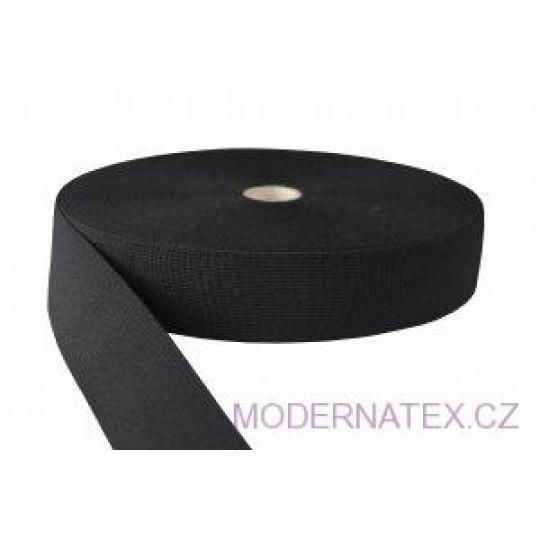 Guma pro šití oděvu  šíře 50 mm černá  balení 25 m