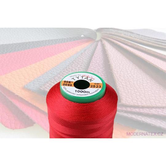 Čalounická šicí nitě TYTAN 60E 1000 m červené barva 2523