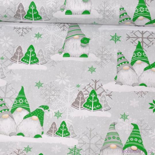 Vánoční vzory bavlněné látky, metráž vzor 1447