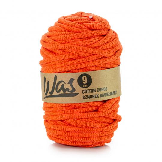 Bavlněná šňůra 9mm, 50m, oranžová 150