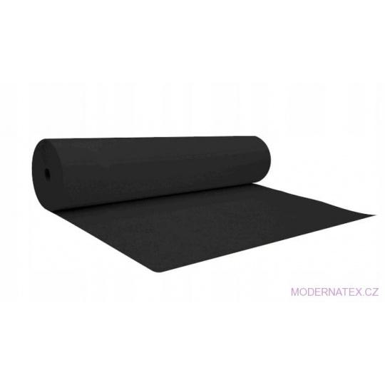 Jednobarevná bavlněná látka černá šíře 140 cm