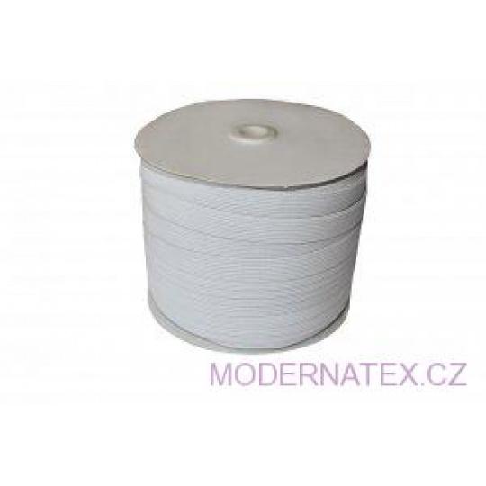 Guma prádlová šíře 11 mm bílá balení 100 m