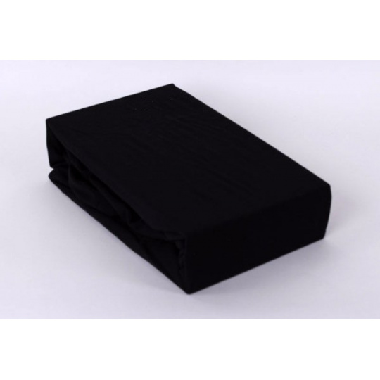 Jersey prostěradlo dvoulůžko Exclusive - černá 200x220 cm  varianta černá
