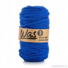 Bavlněná šňůra 5mm, 100m, tmavě modrá 290