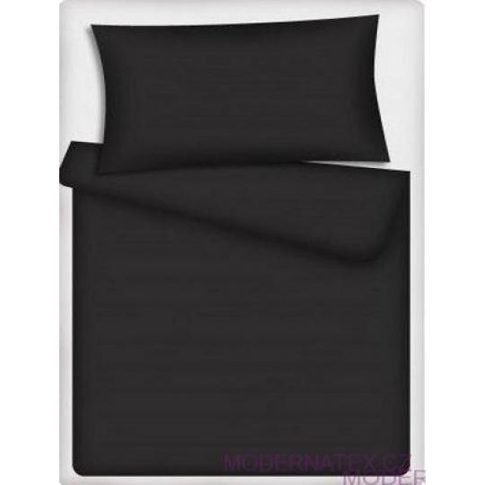 Jednobarevná bavlněná látka černá 504-1