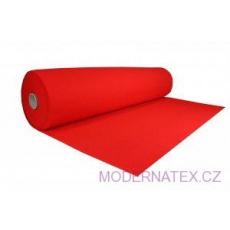 Dekorační filc 3 mm barva červená