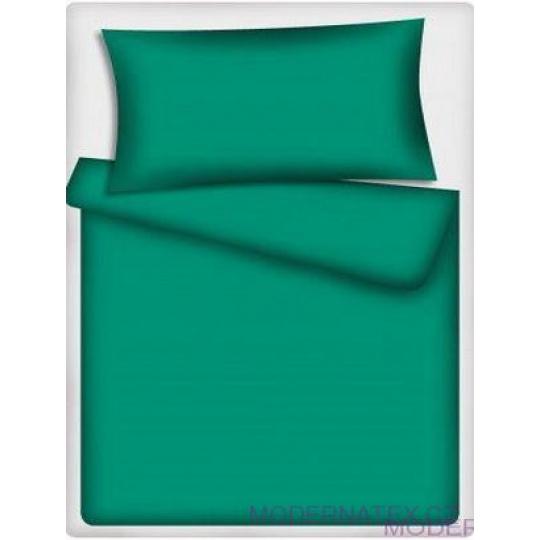 Jednobarevná bavlněná látka smaragd 512-1