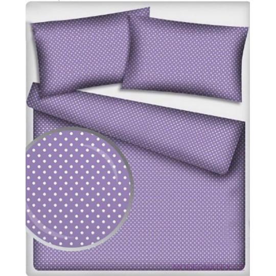 7 mm Bavlněné látky vzor Puntík bílý fialové plátno