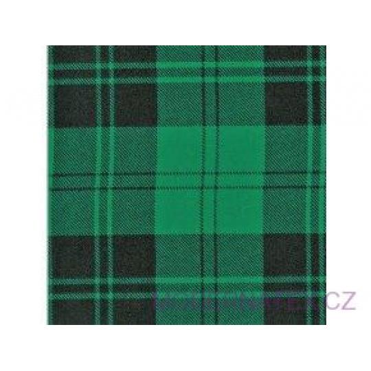 Flanelová látka černé-zelená 8x8 cm 787  šíře 160 cm