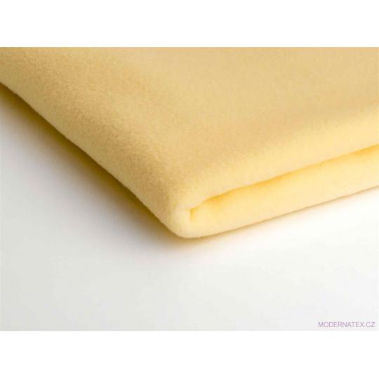 Látka Micro fleece barva vanilka 47