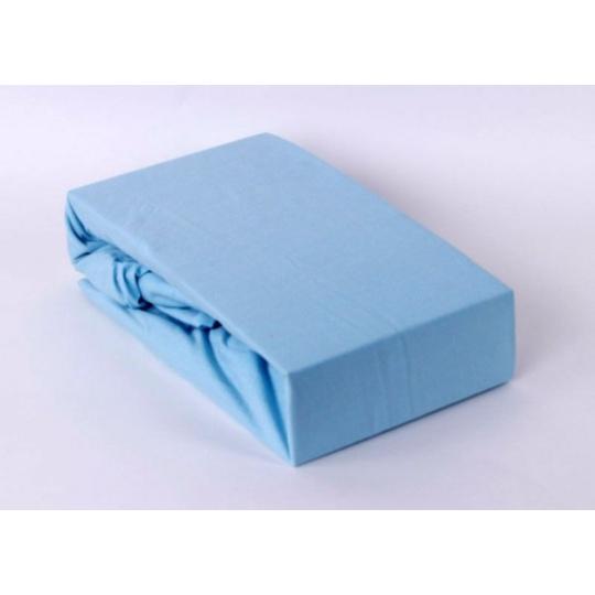 Jersey prostěradlo dvoulůžko Exclusive - modrá 180x200 cm  varianta modrá světlá
