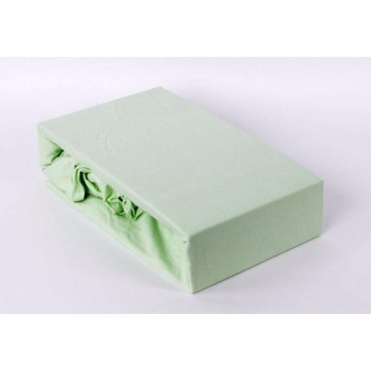 Jersey prostěradlo jednolůžko Exclusive- zelená 90x200 cm varianta zelená světla