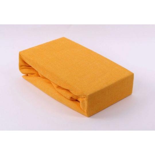 Froté prostěradlo dvoulůžko Exclusive - žlutá 160x200 cm  varianta žlutá