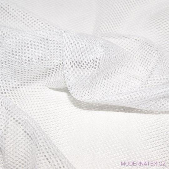 Síť polyesterová, Síťovina pro oděvů bílá - DZ-008-131  2mm x 2mm