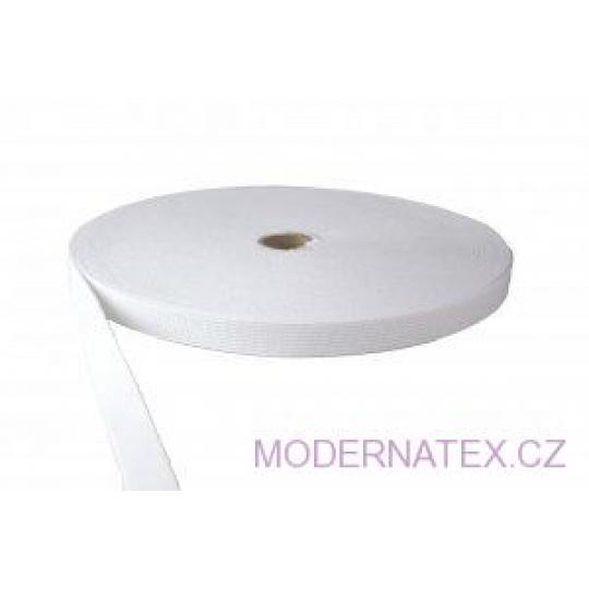 Guma pro šití oděvu  šíře 20 mm bílá  balení 25 m