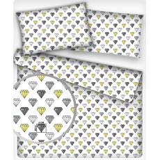 Bavlnená dekoračná látka vzor padák žltý, metráž 160 cm