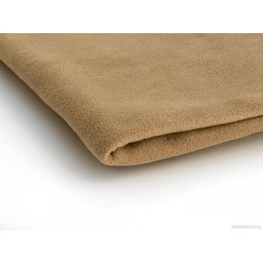 Látka Micro fleece barva karamel 31