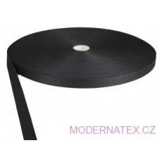 Polypropylénový popruh 15 mm černý (balení 50 m)