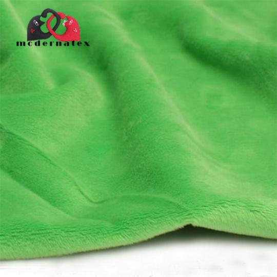 Minky mikroplyš jednobarevné barva zelená
