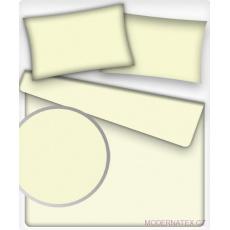 Jednofarebná bavlnená látka farba slonová kosť 2, metráž 160 cm
