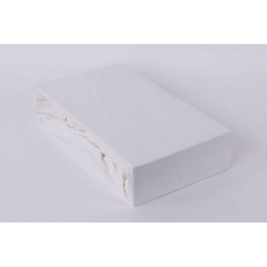 Jersey prostěradlo dvoulůžko Exclusive - bílá 200x220 cm  varianta bílá