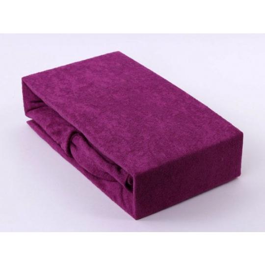 Froté prostěradlo dvoulůžko Exclusive - redviolet 180x200 cm  varianta redviolet