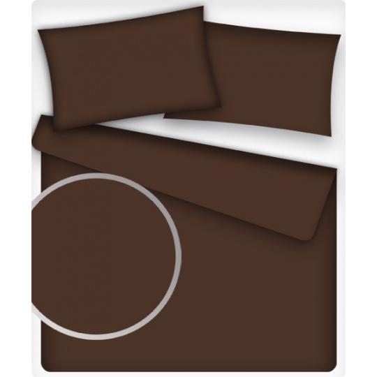 Jednofarebná bavlnená látka, farba hnedá 26, metráž 160 cm