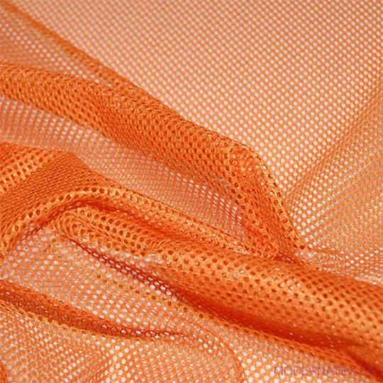 Síť polyesterová, Síťovina pro oděvů pomerančová - DZ-008-133  2mm x 2mm