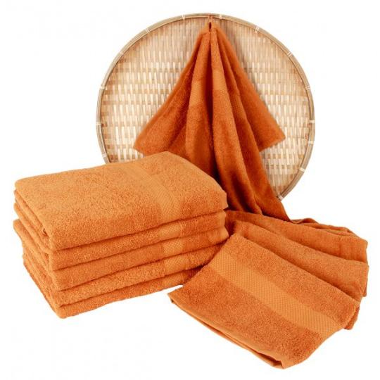 Darsi froté ručník 50x100 cm barva tm-oranžová