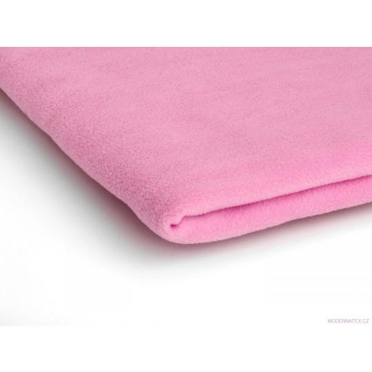 Látka Microfleece barva růžová 20
