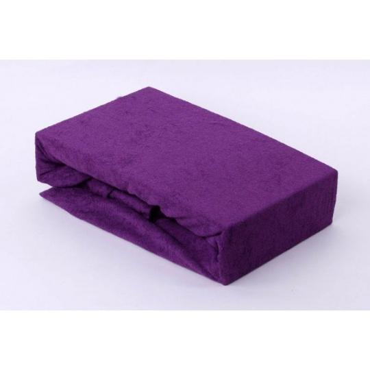 Froté prostěradlo dvoulůžko Exclusive - fialová 160x200 cm  varianta fialová