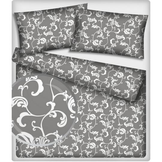 Bavlněné látky vzor 307 Oriental na šedém podkladu