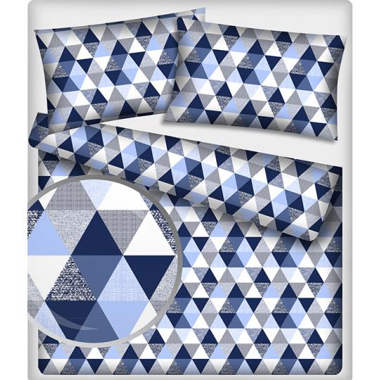 Bavlněné látky vzor trojúhelníky 9 cm 495