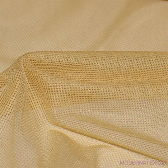 Polyesterová elastická síťovina barva  medová, oko 1x1 mm - DZ-008-109