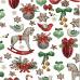 Vianočné bavlnené látky, metráž 160 cm, vzor kone na bielom